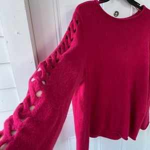 Lane Bryant Sweater with Crisscross Sleeve Details